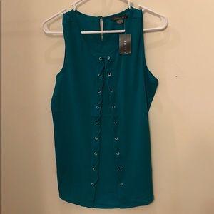 Emerald Green Sleeveless Top - Suzy Shier- NWT